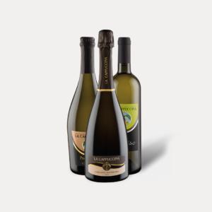 Confezione mista di 3 bottiglie (1 Extra Dry, 1 Frizzante, 1 Verdisio), La Cappuccina